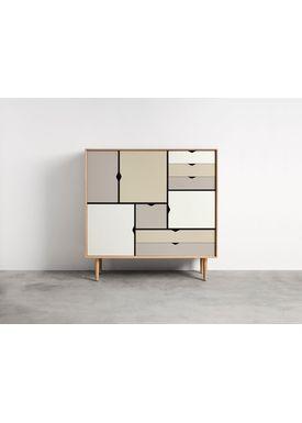 Andersen Furniture - Skænk - Andersen Furniture S3 - Eg/Sæbe Med Farvede Fronter