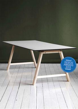 Andersen Furniture - Spisebord - T1 udtræksbord - ByKato - 95 x 180 cm til 3 plader