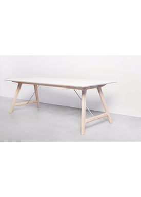 Andersen Furniture - Spisebord - Andersen T7 spisebord - Hvid laminat - Egestel M/ Udtræk til 4 plader
