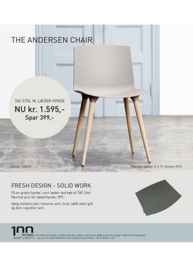 Andersen Furniture - Chair - Tac Chair Plast - Grey/Oak