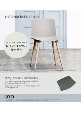 Andersen Furniture - Stol - Tac Chair Plast - Hvid/Eg