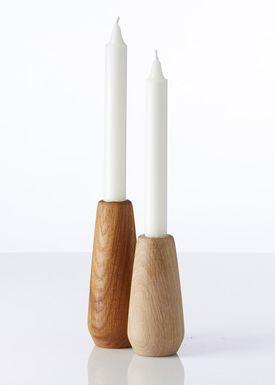 Applicata - Lyseholder - Torso Candleholder - Small - Bejdset Eg