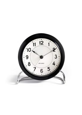 Arne Jacobsen - Watch - Station Vægur - Table clock black/white
