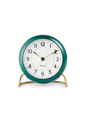 Arne Jacobsen - Watch - Station Vægur - Table clock green/white
