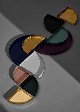 AYTM - Tray - UNITY quarter circle - Large - Gold