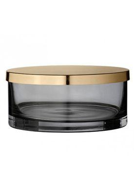 AYTM - Krukke - Box with lid - Phantom/Brass Small