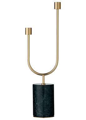 AYTM - Candle Holder - Grasil - Medium - Forest/Gold