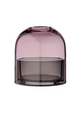 AYTM - Candle Holder - T-lite holder - Rose/Black - Small