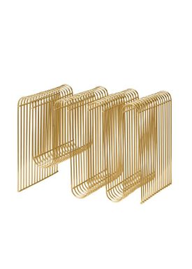 AYTM - Magazine Holder - Curva Magazine Holder - Gold