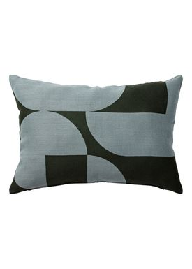 AYTM - Kudde - FORMA jacquard cushion - Forest/Pale Mint