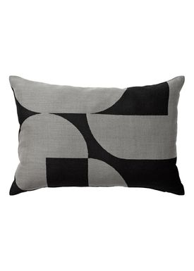AYTM - Kudde - FORMA jacquard cushion - Black/Grey