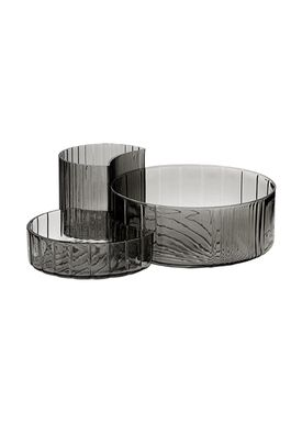 AYTM - Bowl - CONCHA glas skåle - Black