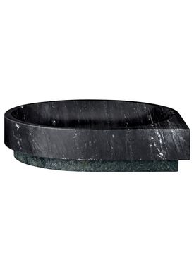 AYTM - Skål - STILLA marble bowl - Black/Forest