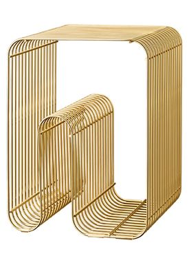 AYTM - Pall - CURVA Stool and Shelf - Gold