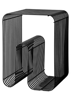 AYTM - Stool - CURVA Stool and Shelf - Black