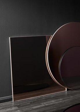 AYTM - Spejl - QUADRO square - Clear/Walnut