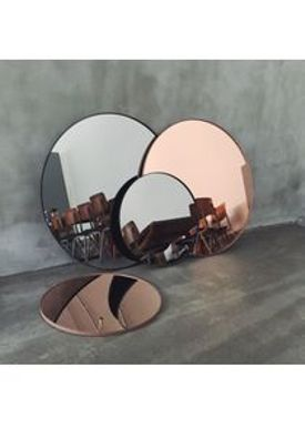 AYTM - Spejl - Round Wall Mirror - Black Medium