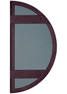 AYTM - Spejl - UNITY half circle mirror - Bordeaux