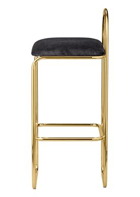 AYTM - Stol - ANGUI bar chair - High - Anthracite/Gold