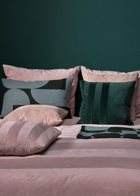 AYTM - Filt - FORMA jacquard throw - Forest/Pale mint