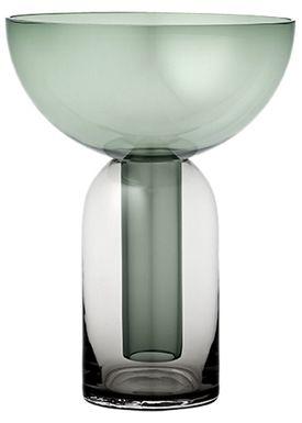 AYTM - Vase - Torus glas vase - Black/Forest
