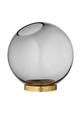 AYTM - Vase - Vase w/stand - Black/Gold Medium