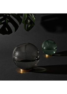 AYTM - Vase - Vase w/stand - Deep Forest/Brass Medium