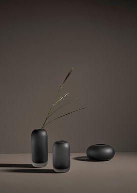 AYTM - Vase - HYDRIA - Wide - Black