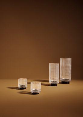 AYTM - Vase - VITREUS - Small - Clear/Black