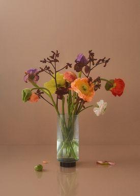 AYTM - Vase - VITREUS - Large - Clear/Black