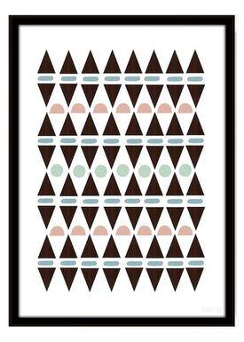 Seventy Tree - Poster - Aztec Triangles A3 - Print