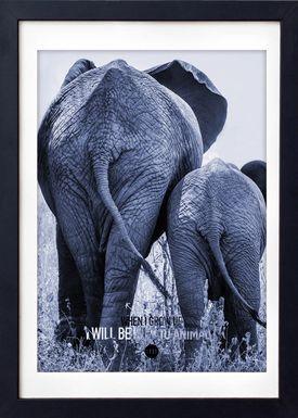 LOVE A FOX - Poster - Baby Elephant Colour - Blå