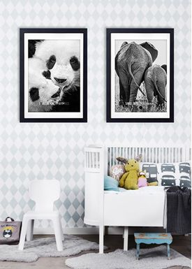 LOVE A FOX - Poster - Baby Elephant Grey - Grå
