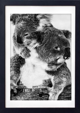 LOVE A FOX - Poster - Baby Koala Grey - Grå