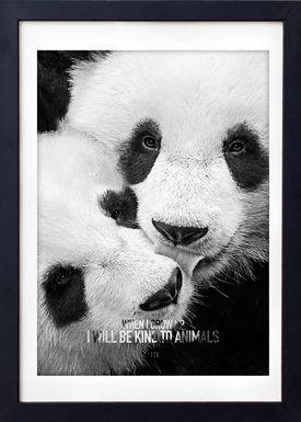 LOVE A FOX - Poster - Baby Panda Grey - Grå