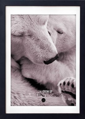 LOVE A FOX - Poster - Baby Polar Bear Colour - Powder Shades
