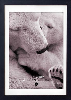 LOVE A FOX - Poster - Baby Polar Bear Colour - Pudder Nuancer