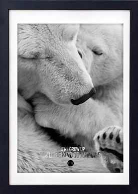 LOVE A FOX - Poster - Baby Polar Bear Grey - Grey