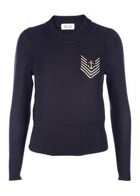Baum und Pferdgarten - Sweater - Caitrin Gold Logo - Navy