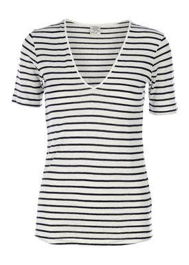 Baum und Pferdgarten - T-shirt - Janiya - Hvid/Navy Strib