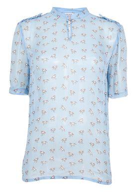 Baum und Pferdgarten - T-shirt - Marge - Lyseblå m. Print