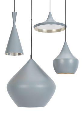 Tom Dixon - Lampe - Beat Fat Pendant - Grå/Sølv