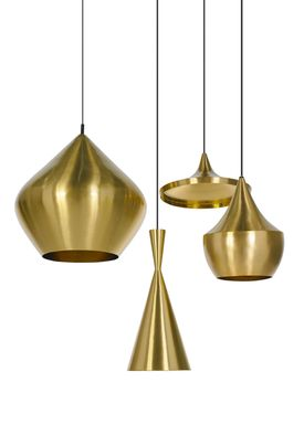 Tom Dixon - Lampe - Beat Tall Pendant - Messing