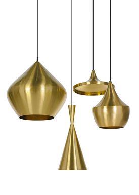 Tom Dixon - Lampe - Beat Tall Pendant - Messing