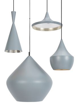 Tom Dixon - Lampe - Beat Tall Pendant - Grå/Sølv