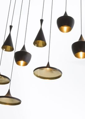 Tom Dixon - Lampe - Beat Tall Pendant - Sort/Messing