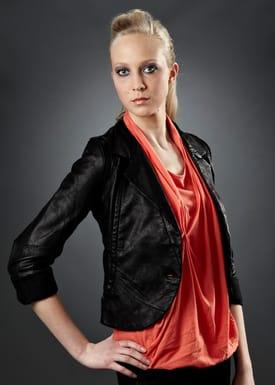 Leather jacket Jakke Sort