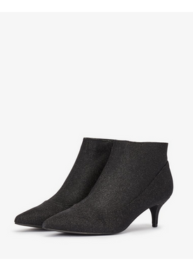 Bianco - Ankle Boots - Amy Kitten Heel - Black Glitter