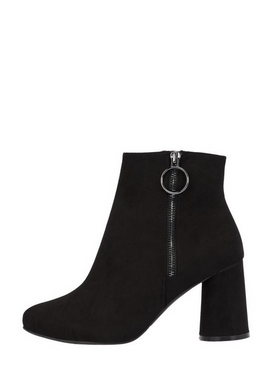 Bianco - Ankelstövlar - Round Heel Ankle Boots - Black