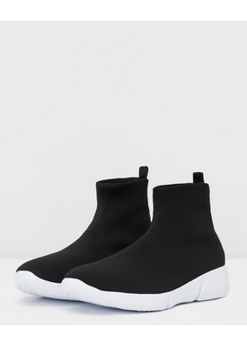 Bianco - Sneakers - Knit Hightop Sneakers - Black